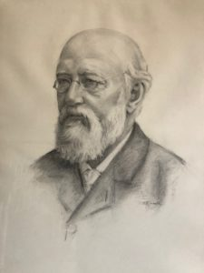 drawing of Carl Schurz