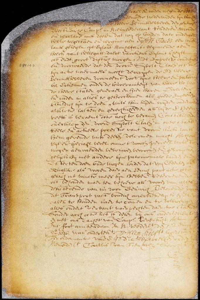 original manuscript page in Dutch